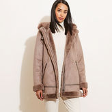 Ralph Lauren Faux-Shearling Hooded Coat