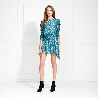 Rachel Zoe Dolores Leaf Printed Mini Dress