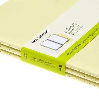 Moleskine Cahier Plain Xl Tender Yellow Set Of 3