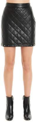 Moschino Studded Hem Quilted Mini Skirt