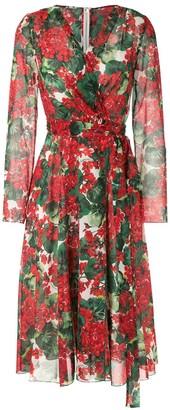 Dolce & Gabbana Hydrangea Printed Dress
