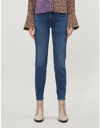 7 For All Mankind Roxanne Crop Bair slim-fit mid-rise jeans