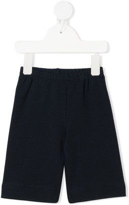 Il Gufo High-Waisted Cotton Shorts