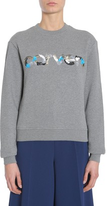 Carven Sequins Logo Sweatshirt