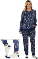 Cuddl Duds Plus Size Pajamas: Under The Moonlight Top