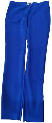 Versace Blue Cloth Trousers for Women