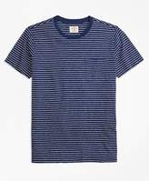 Brooks Brothers Stripe Cotton Jersey Pocket T-Shirt