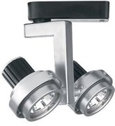 W.A.C. Lighting JHT-817-PT/BK J Series Low Voltage Track Head, 50W by