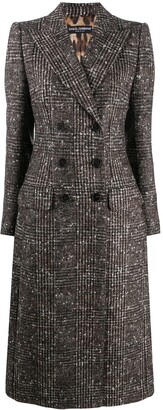 Dolce & Gabbana Check Double-Breasted Wool Coat
