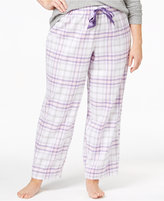 Alfani Plus Size Printed Flannel Pajama Pants, Only at Macy's