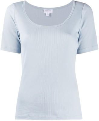 Sunspel ribbed short sleeve T-shirt