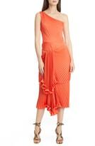 Flor Et. Al Cowper One-Shoulder Pleat Cocktail Dress