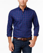 Club Room Men's Windowpane Long-Sleeve Shirt, Only at Macy's
