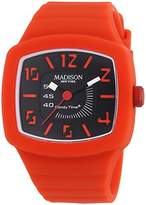 Madison New York Candy Time Unisex Watch Quartz Analog TV Silicone 4613–11 U