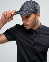Armani Jeans Signature Baseball Cap In Black