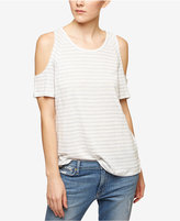 Sanctuary Lou Linen Striped Cold-Shoulder Top