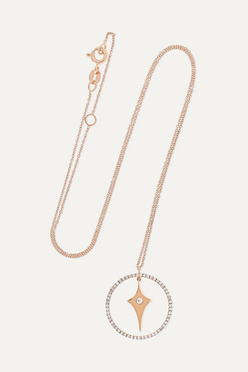 Diane Kordas Shield Charm 18-karat Rose Gold Diamond Necklace