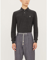 Polo Ralph Lauren Logo-embroidered slim-fit cotton-pique polo shirt