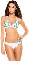 Lucky Brand Women's French Tapestry Convertible Strap Bikini Top L
