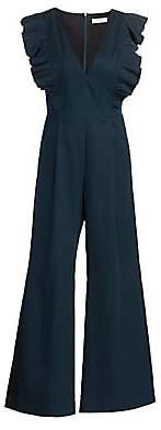 Sea Women's Stevie Ruffled Sleeve Wide-Leg Crop Jumpsuit - Size 0