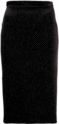 Christopher Kane Glitter Velvet Pencil Skirt