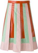 Valentino striped A-line skirt