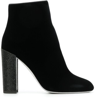 Rene Caovilla jewelled heel ankle boots