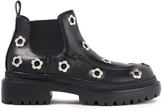 McQ Eyelet-embellished Leather Chelsea Boots