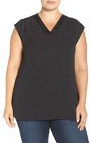 Sejour Plus Size Women's Extended Shoulder Top