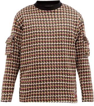 Boramy Viguier Patch-pocket Houndstooth-knit Sweater - Multi