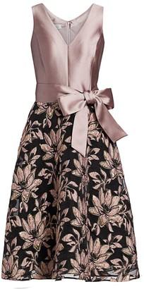 Teri Jon By Rickie Freeman Side Bow Dress