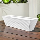 CB2 Oscar Hi-Gloss White Rectangular Rail Planter