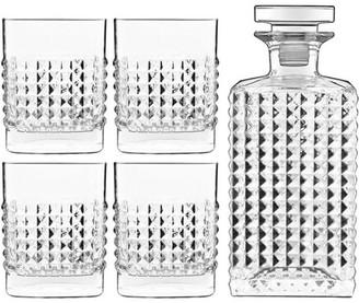 Luigi Bormioli Mixology Elixir 5 Piece Crystal Glass Whisky Set with Decanter & Glasses