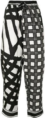 Pierre Louis Mascia Mixed-Print Trousers