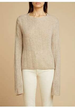 KHAITE The Nelley Sweater In Powder
