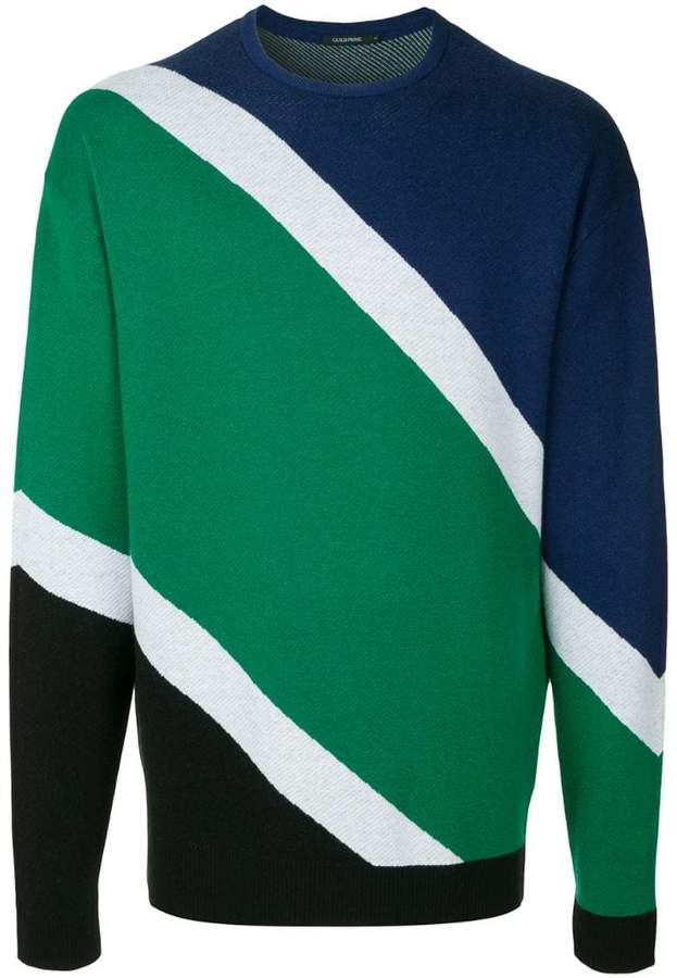 GUILD PRIME diagonal stripes knit sweater