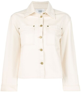 Victoria Victoria Beckham Cropped Sleeve Denim Jacket