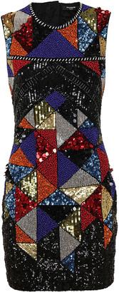 Balmain Sleeveless Bead&sequin Embroidery Dress
