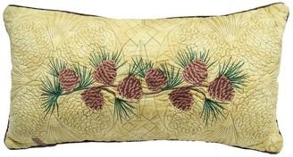 Donna Sharp Cabin Raising Pine Cone Rectangle Decorative Pillow