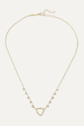 Jacquie Aiche Emily 14-karat Gold, Moonstone And Diamond Necklace - one size