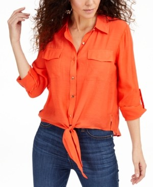 Thalia Sodi Tie-Front Top, Created for Macys