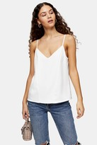 Topshop Womens Ivory Panel Front Cami - Ivory