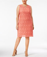JM Collection Plus Size Lace Sheath Dress, Created for Macy's