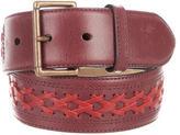 Alaia Leather Woven Waist Belt