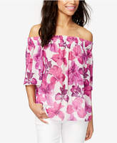 Rachel Roy Cotton Off-The-Shoulder Top, Created for Macy's