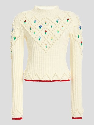 Philosophy di Lorenzo Serafini Mockneck Floral Sweater