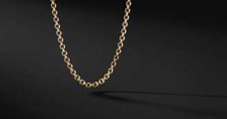 David Yurman Knife Edge Chain Necklace In 18K Gold, 4.6Mm