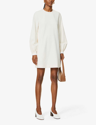Victoria Victoria Beckham Bell sleeve stretch-twill mini dress