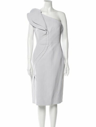 Antonio Berardi One-Shoulder Midi Length Dress w/ Tags Grey