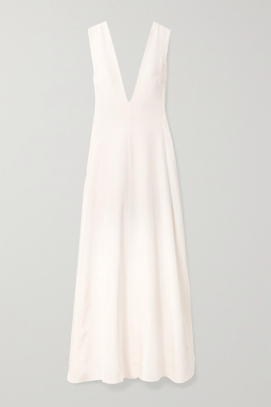 Thumbnail for your product : Michael Lo Sordo Silk-satin Maxi Dress - Ivory